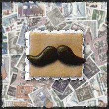 Materiál ručne robený - Polymérová poštová známka - moustache fúzy - 5125437_