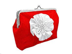 Kabelky - Svadobná červená kabelka čipková, kabelka pre nevestu 0455A - 5133010_