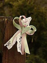 - Svadobné pierko - mint- ružové - 5129562_