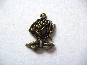 Komponenty - prívesok ruža /25mm x 17mm/ - 5130870_