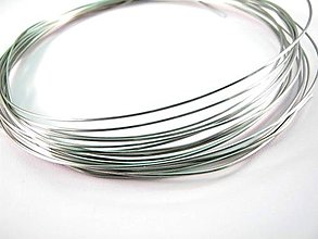 Komponenty - Drôt z chirurgickej ocele 316L 0,8 mm -1 m - matný, mäkký - 5132629_