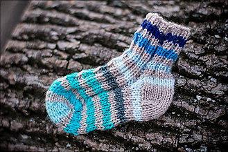 Topánočky - Detské ponožky malilinké modré - 5132151_