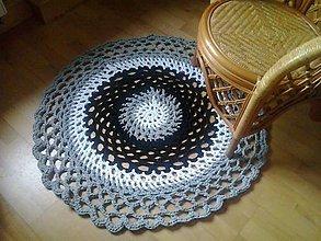 Úžitkový textil - Hačkovaný koberec - 5132104_