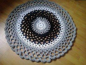 Úžitkový textil - Hačkovaný koberec - 5132107_