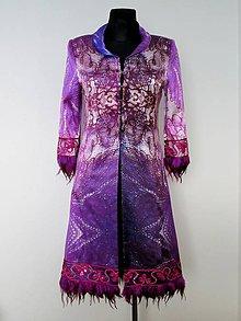 Kabáty - Exkluzívny hodvábny kabát Zľava 30% - 5129517_