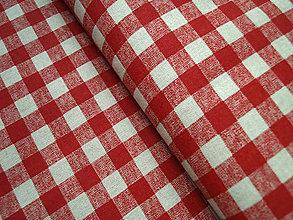 """Textil - Dekoračná látka """"červené štvorčeky"""" - 5129019_"""