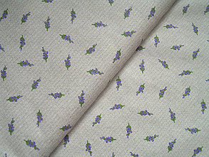 Textil - bavlnená látka mini levanduľky - 5129347_