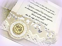 - Pozvánky na prvé sväté prijímanie: