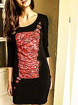 Šaty - Šaty s červenou bublinou - 5128910_