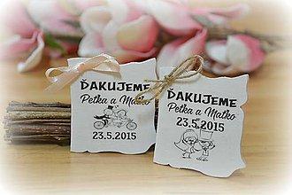 Darčeky pre svadobčanov - Svadobné magnetky - listy - 5131461_