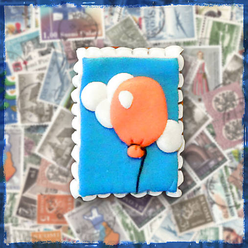 Polymérová poštová známka - balónik