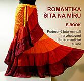 Návody a literatúra - Romantika šitá na míru -ebook, návod na sukni - 5130268_