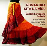 Textil - Romantika šitá na míru - balíček hedvábí - 5130372_