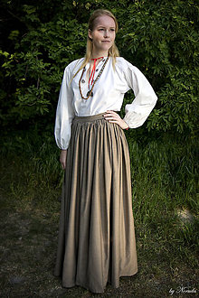 Sukne - Sukňa svetlohnedá - p - 5135630_