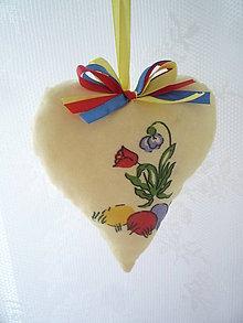 Dekorácie - Happy Easter heart - 5136416_