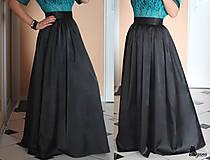 Spoločenská sukňa z kvalitného hrubšieho saténu s matným leskom rôzne farby