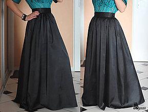 Sukne - Spoločenská sukňa zo saténu rôzne farby - 5136598_