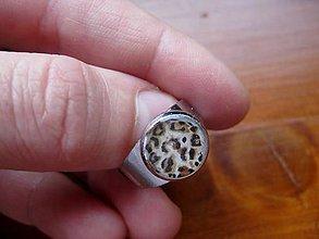 Prstene - Prsteň menší guľatý (Tigrica č.54 - akcia) - 5135662_