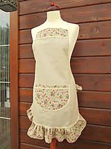Iné oblečenie - Dámska zástera vrecko z kvietkov - 5137624_