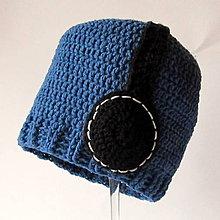 Detské čiapky - ZĽAVA z 8,50e - Chlapčenská čiapka so slúchadlami akryl/bavlna - 5137169_