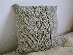 Úžitkový textil - pletený vankúš - 5137320_