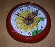 Hodiny - Nástenne hodiny slnečnicové - 5133584_
