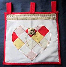 Úžitkový textil - Srdiečkový vreckár - 5134649_