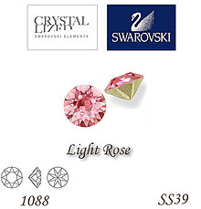 Korálky - SWAROVSKI® ELEMENTS 1088 Xirius Chaton - Light Rose, SS39, bal.1ks - 5135439_