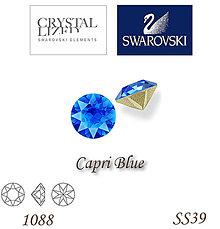Korálky - SWAROVSKI® ELEMENTS 1088 Xirius Chaton - Capri Blue, SS39, bal.1ks - 5135469_