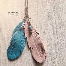 Náhrdelníky - Pierkový - 5135912_