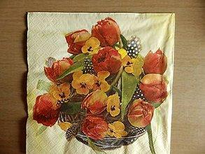 Papier - tulipány v košíku - 5135855_