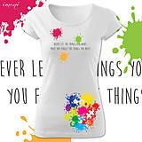 Tričká - Dámske tričko krátky rukáv rôzne farby TÚŽBY - 5136484_