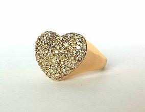 Prstene - prsteň zlaté srdce - 5139147_