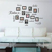 Dekorácie - (3643n) Nálepka na stenu - Rodina je.. - 5138638_