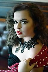 Náhrdelníky - čierna labuť - 5139526_