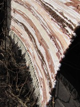 Úžitkový textil - tkaný koberec - hnedý melír 70 x 150 cm - 5141423_