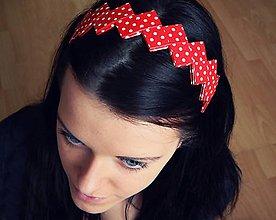 Ozdoby do vlasov - Čelenka - bodkovaná - 5140385_