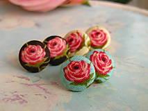 Náušnice - Náušnice s růžičkami - 5139950_