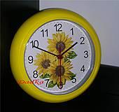 Dekorácie - Nástenne hodiny slnečnicové - 5138743_