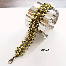 Náramky - Korálkový náhrdelník Húsenica - 5143876_