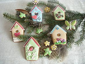 Dekorácie - medovník-jarné vtáčie búdky - 5144320_