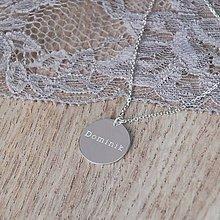 Náhrdelníky - Strieborný disk s menom na želanie - 5146921_