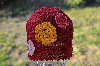 Detské čiapky - Skladom-Háčkovaná čiapočka - 5146164_