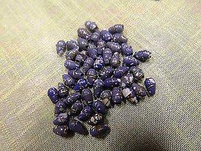 Korálky - Korálky oválne (tvaru ryža) fialové 7mmx4mm - 5142632_