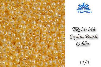 Korálky - Toho Round TR-11-148 Ceylon Peach Cobler 11/0, bal.10g - 5146578_