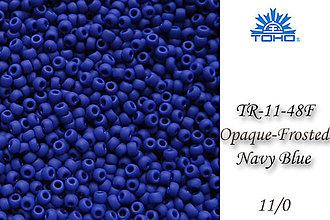 Korálky - Toho Round TR-11-48F Opaque-Frosted Navy Blue 11/0, bal.10g - 5146632_