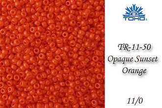 Korálky - Toho Round TR-11-50 Opaque Sunset Orange 11/0, bal.10g - 5146665_