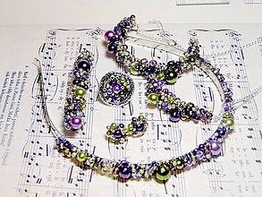 Sady šperkov - Lavender & Olive set 6 šperkov a doplnkov - 5150499_