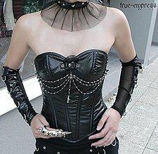 Šaty - Gotický koženkový korzet - 5149800_