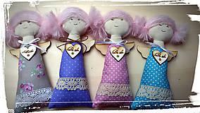 Bábiky - Levanduľový textilný anjelik - 5147841_